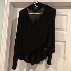 Lulu's Black Long Sleeve Sweater